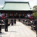 4月29日東京・護国寺 (一般参列者撮影)