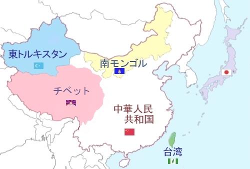 ウイグル地方を示す地図