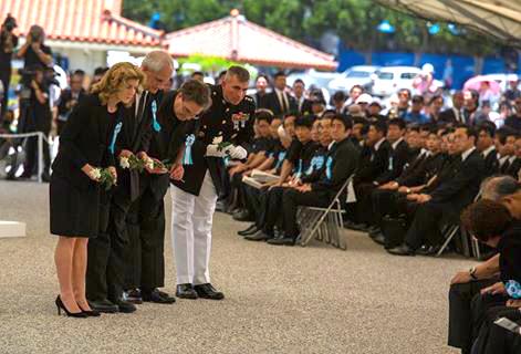 ケネディ大使や在日米海兵隊トップが沖縄全戦没者追悼式に参列